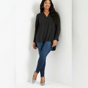ELOQUII Black Tunic Top Size 24 - NWT